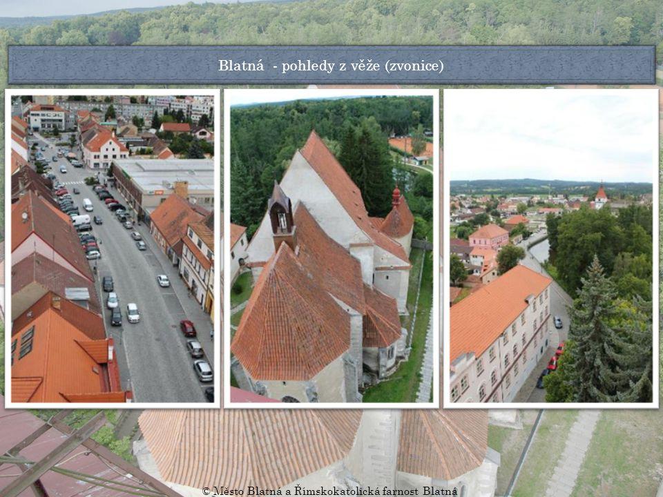Blatná - pohledy z věže (zvonice) © Město Blatná a Římskokatolická farnost Blatná