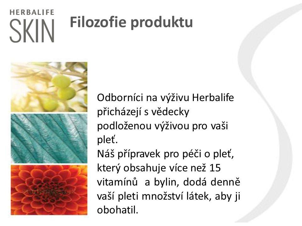 Filozofie produktu Odborníci na výživu Herbalife přicházejí s vědecky podloženou výživou pro vaši pleť. Náš přípravek pro péči o pleť, který obsahuje