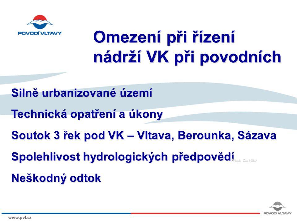 8/9/12 VD Orlík – červen 2013 Retenční prostor Zásobní prostor