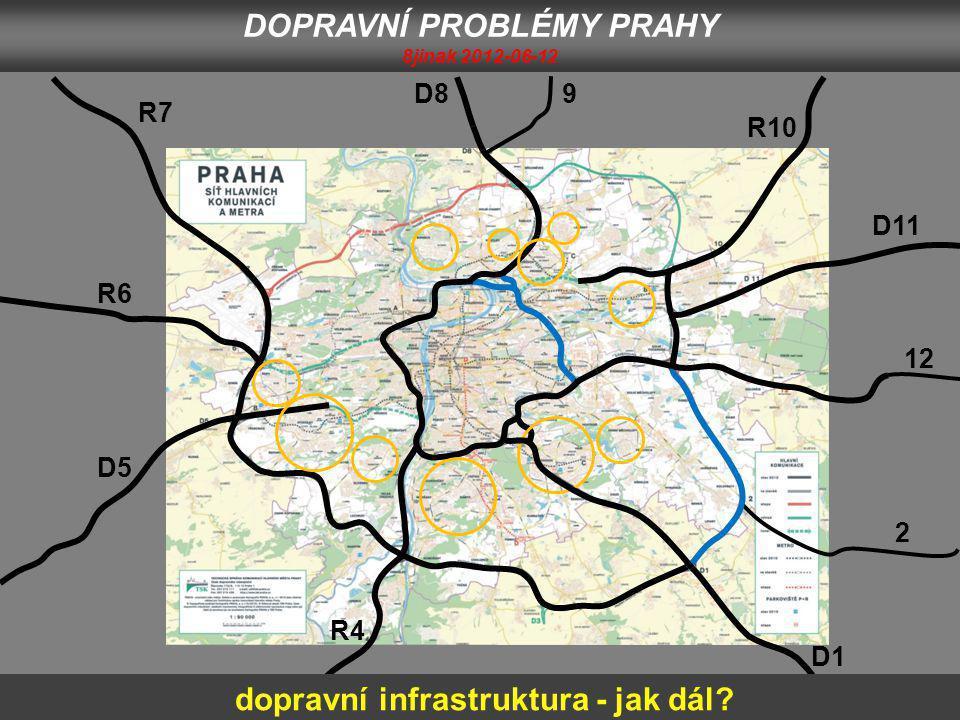 D1 2 12 D11 R10 9D8 R7 R6 D5 R4 DOPRAVNÍ PROBLÉMY PRAHY 8jinak 2012-06-12 dopravní infrastruktura - jak dál