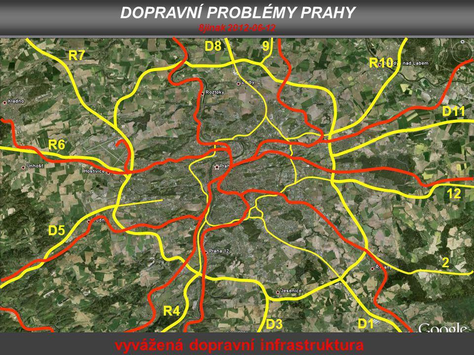D1 2 12 D11 R10 9D8 R7 R6 D5 R4 D3 DOPRAVNÍ PROBLÉMY PRAHY 8jinak 2012-06-12 vyvážená dopravní infrastruktura