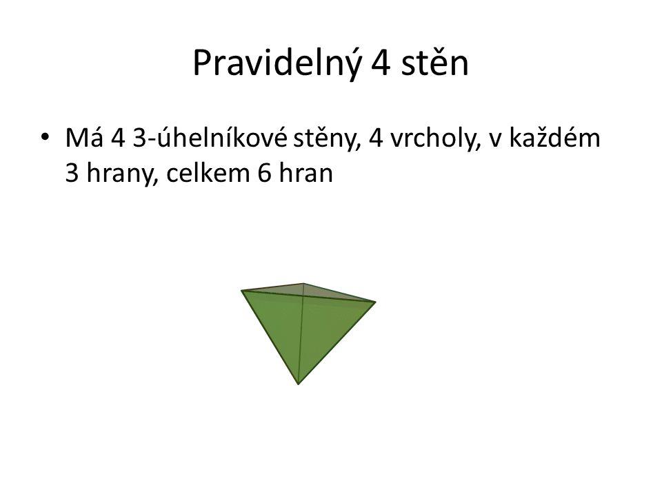 Souřadnice vrcholů pravidelný 8 stěn, octahedron (±1,0,0) (0, ±1, 0) (0,0, ±1) A(1,0,0) B(-1,0,0) C(0,1,0) D(0,-1,0) E(0,0,1) F(0,0,-1) Stěny ACE, AED, ADF, AFC, BCE, BED, BDF, BFC
