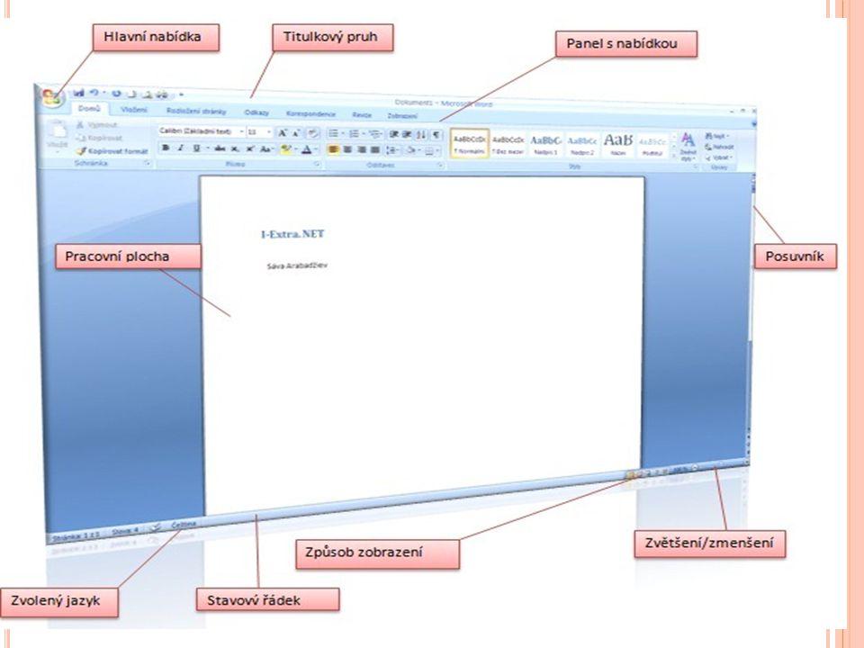 P RÁCE S DOKUMENTEM Uložení dokumentů: Každý uložený dokument je většinou potřeba uložit pro pozdější použití.