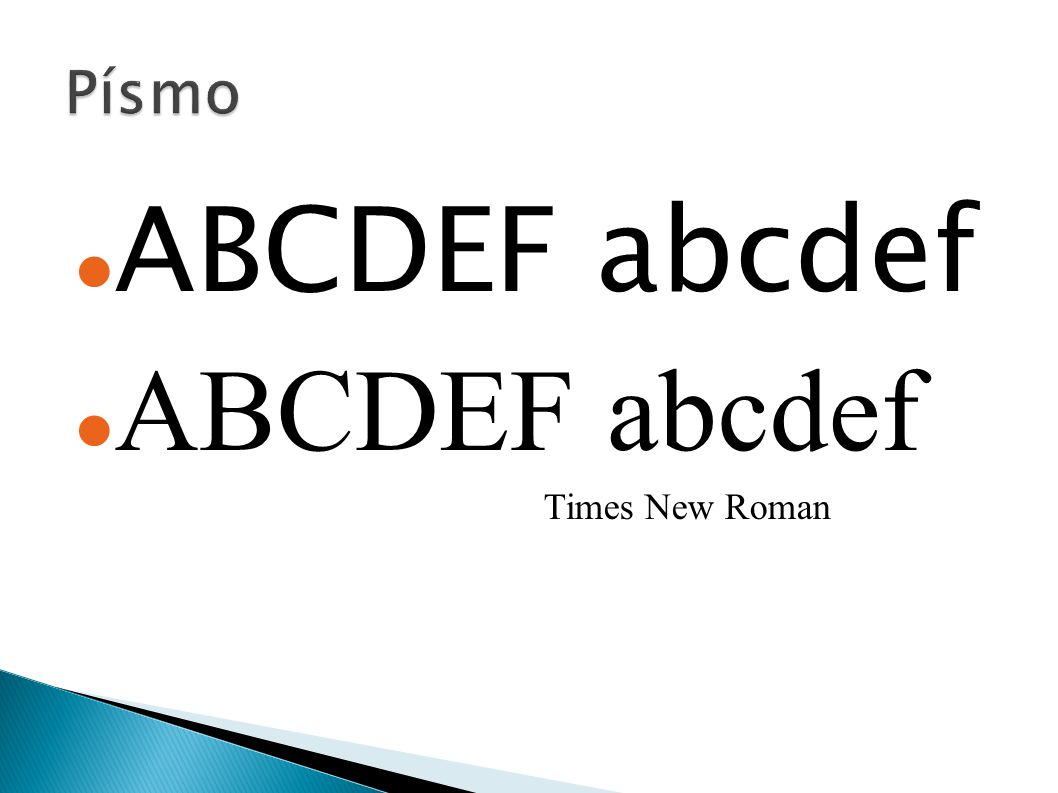 ABCDEF abcdef Times New Roman