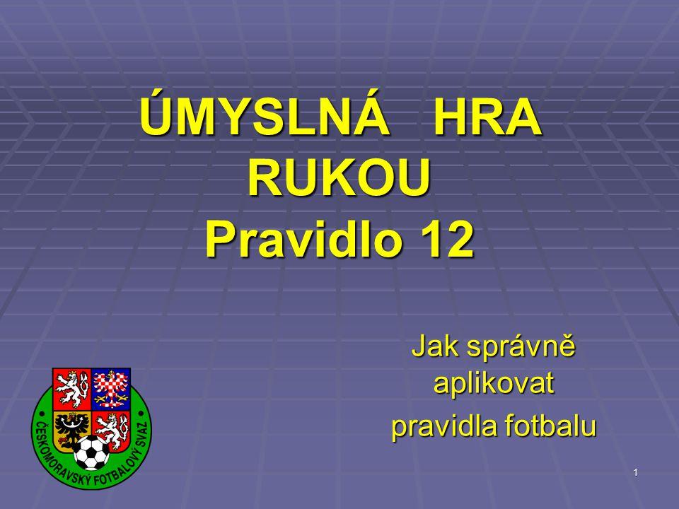 """2 CO ŘÍKÁ PRAVIDLO 12(A) """"Rozhodčí nařídí PVK nebo PK """"Rozhodčí nařídí PVK nebo PK proti družstvu, kterého hráč se dopustí jednoho z následujících přestupků..."""