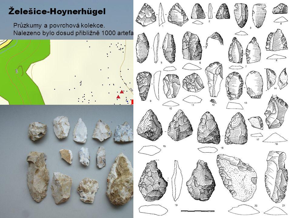 Želešice-Hoynerhügel Průzkumy a povrchová kolekce. Nalezeno bylo dosud přibližně 1000 artefaktů, poloha 613 z nich byla zaměřena pomocí GPS.