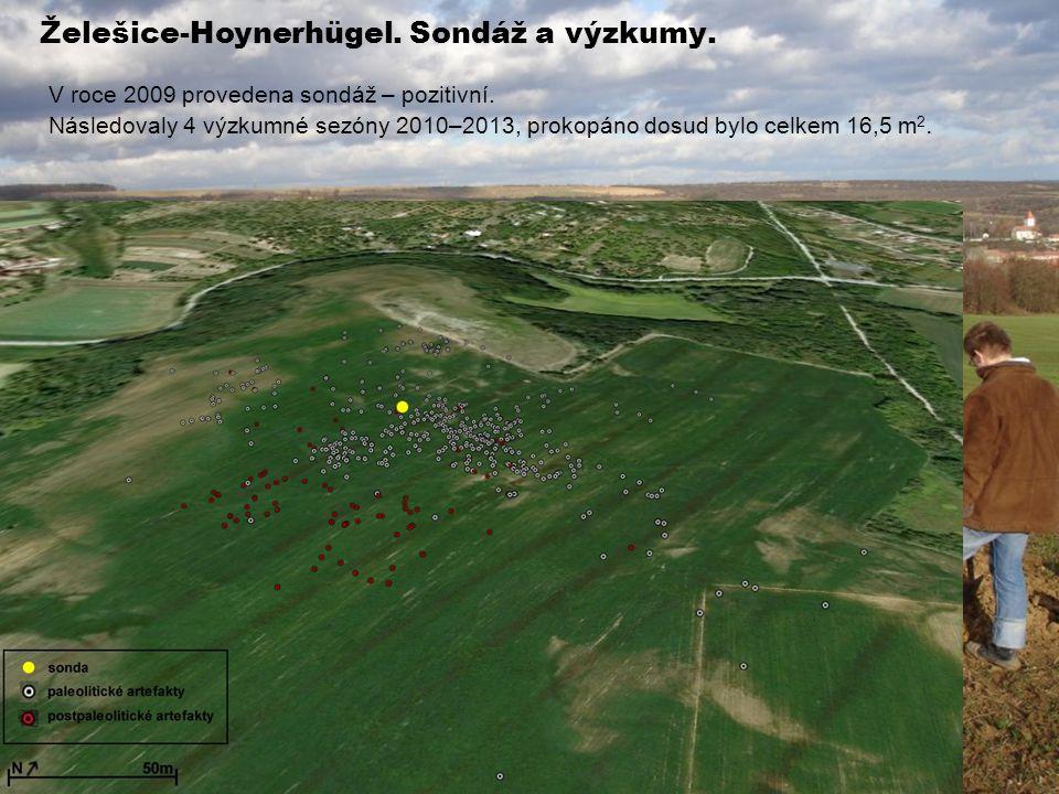 Želešice-Hoynerhügel.Sondáž a výzkumy. V roce 2009 provedena sondáž – pozitivní.