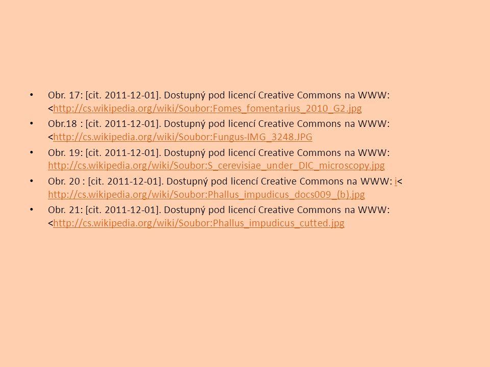 Obr. 17: [cit. 2011-12-01]. Dostupný pod licencí Creative Commons na WWW: <http://cs.wikipedia.org/wiki/Soubor:Fomes_fomentarius_2010_G2.jpghttp://cs.
