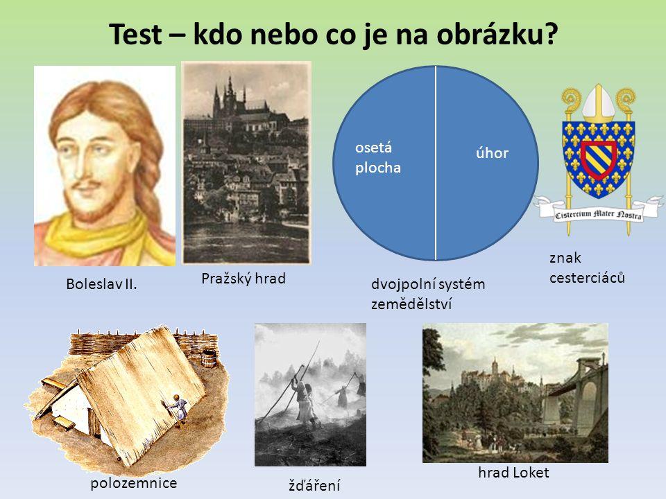 Test – kdo nebo co je na obrázku.Boleslav II.