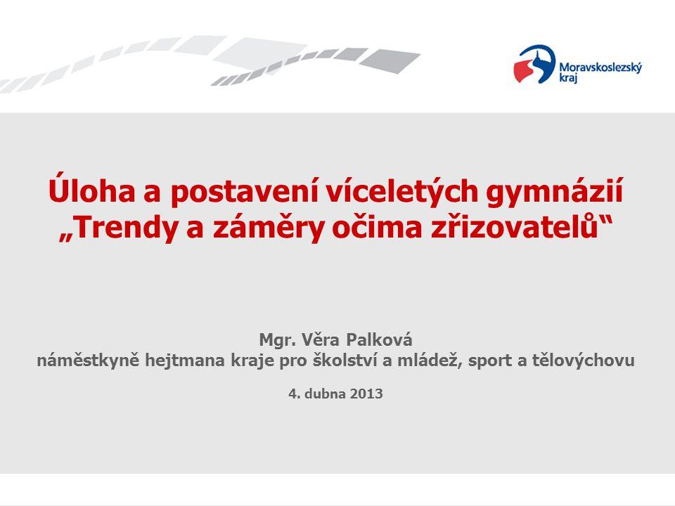 Podíly počtu žáků odcházejících z 5.a 7. ročníků ZŠ do 1.