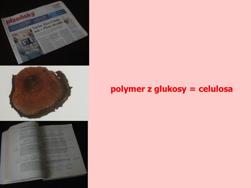 polymer z glukosy = celulosa