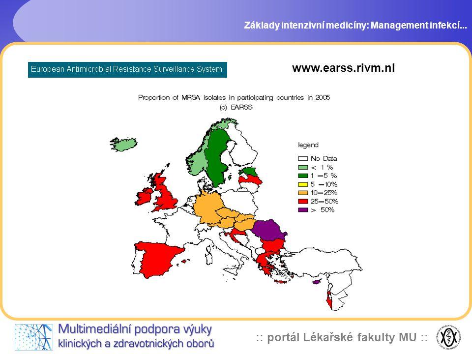 :: portál Lékařské fakulty MU :: Základy intenzivní medicíny: Management infekcí...