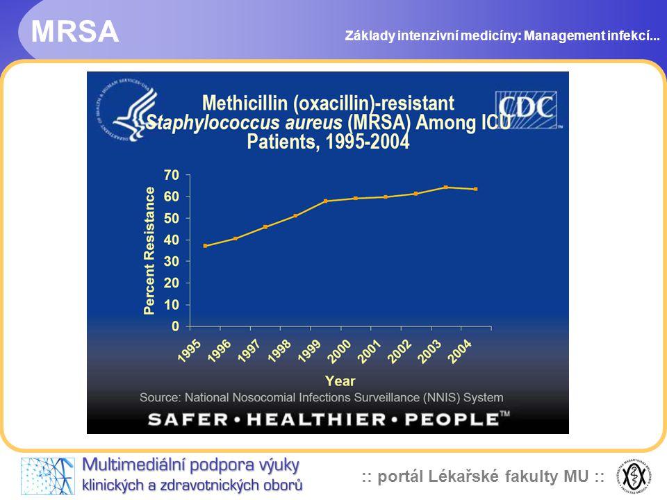 :: portál Lékařské fakulty MU :: MRSA Základy intenzivní medicíny: Management infekcí...