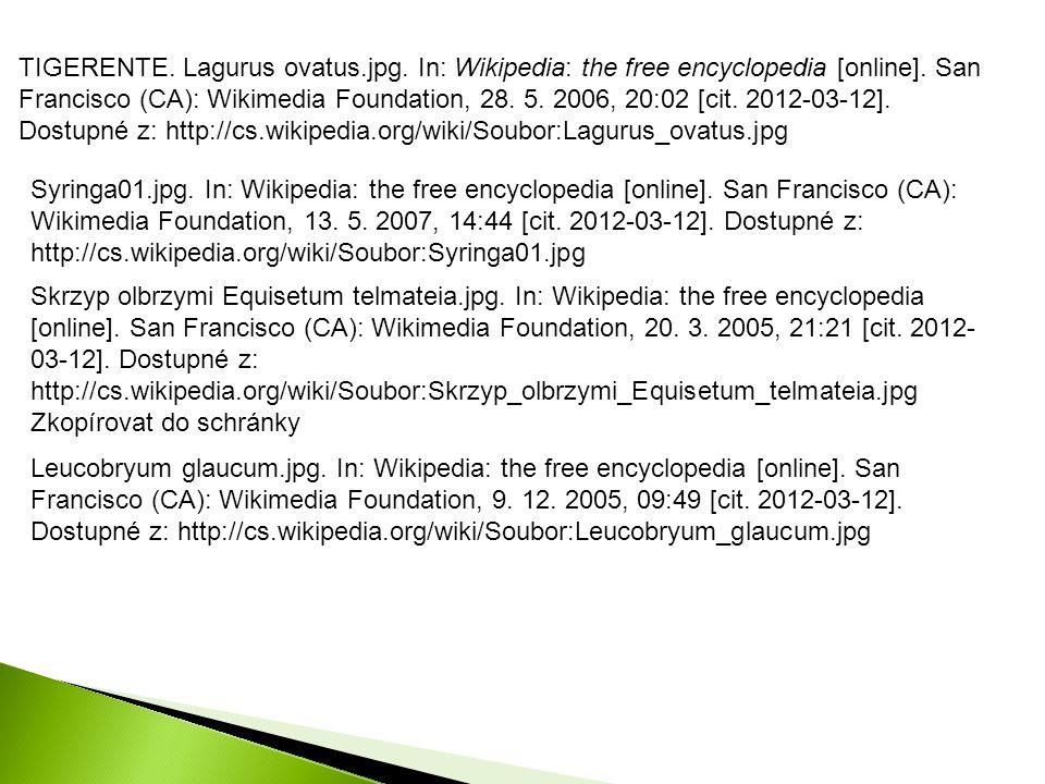 TIGERENTE. Lagurus ovatus.jpg. In: Wikipedia: the free encyclopedia [online]. San Francisco (CA): Wikimedia Foundation, 28. 5. 2006, 20:02 [cit. 2012-