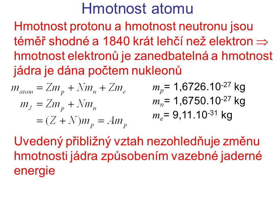 Radioaktivní záření  Vzniká v jádře atomů při změně energetického stavu jádra – následek emise či adsorbce částice Vlnová délka  < 300 pm Energie 100 keV až 10 MeV Silně ionizující Fotoelektrický jev (dominantní do 0,5 MeV) Comptonův rozptyl (dominantní 0,5 – 5 MeV) Tvorba elektron – pozitronových párů (e -, e + ) Opačný proces k anihilaci páru částice – antičástice Pouze u fotonů s energií větší než 2 m e c 2  1 MeV Pouze za účasti interakce s další částicí (atomem)