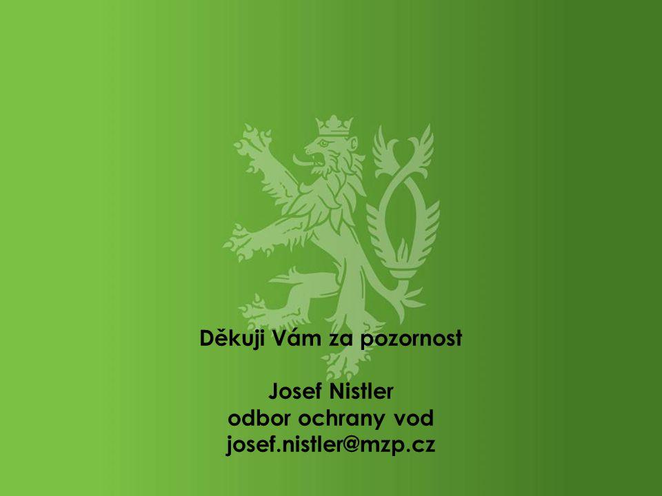Děkuji Vám za pozornost Josef Nistler odbor ochrany vod josef.nistler@mzp.cz