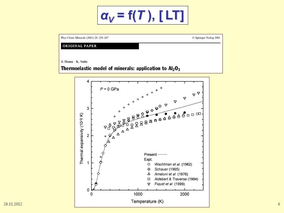28.11.20126 α V = f(T ), [ LT]
