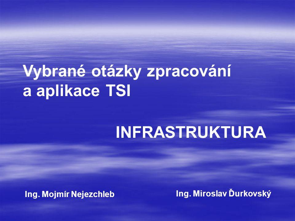 Vybrané otázky zpracování a aplikace TSI INFRASTRUKTURA Ing.