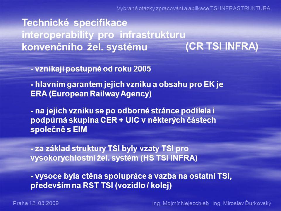 Technické specifikace interoperability pro infrastrukturu konvenčního žel.