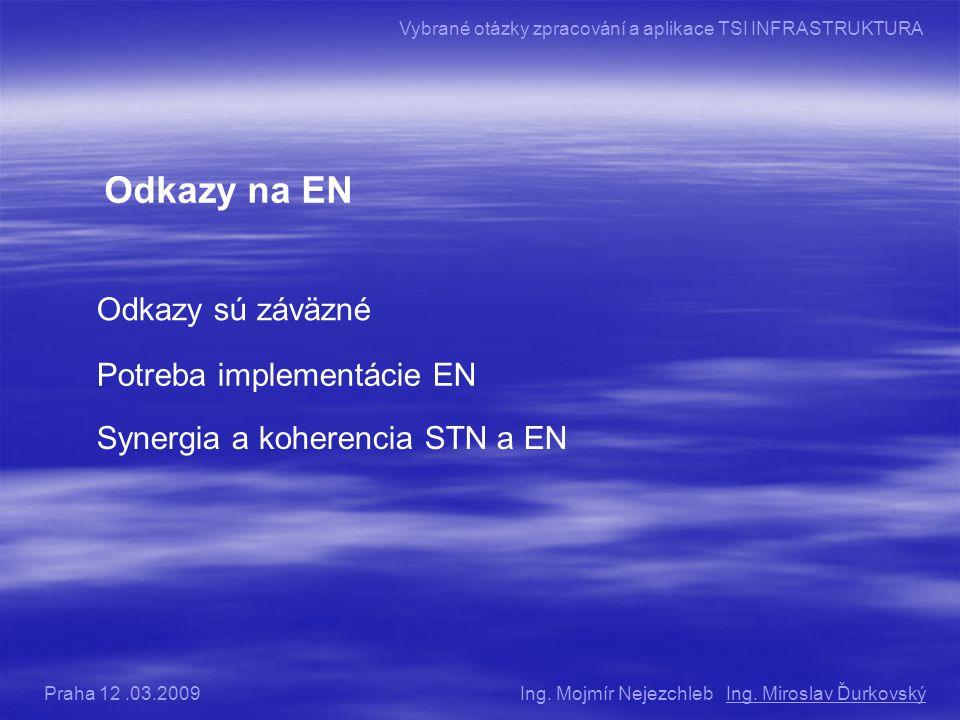 Odkazy na EN Odkazy sú záväzné Potreba implementácie EN Synergia a koherencia STN a EN Ing.