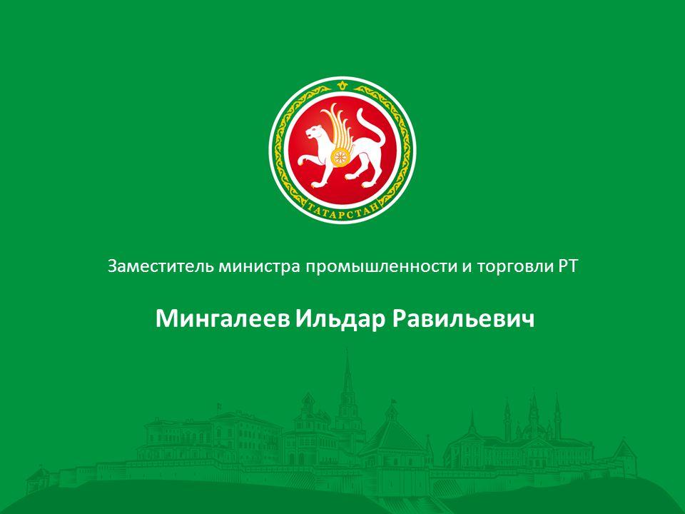 Заместитель министра промышленности и торговли РТ Мингалеев Ильдар Равильевич