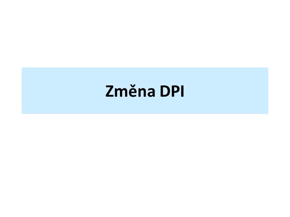 DPI z anglického Dots Per Inch (body na palec) údaj určující, kolik obrazových bodů se vejde do délky jednoho palce 1 palec (anglicky inch) = 2,54 cm někdy také PPI – Pixels Per Inch (pixely na palec)