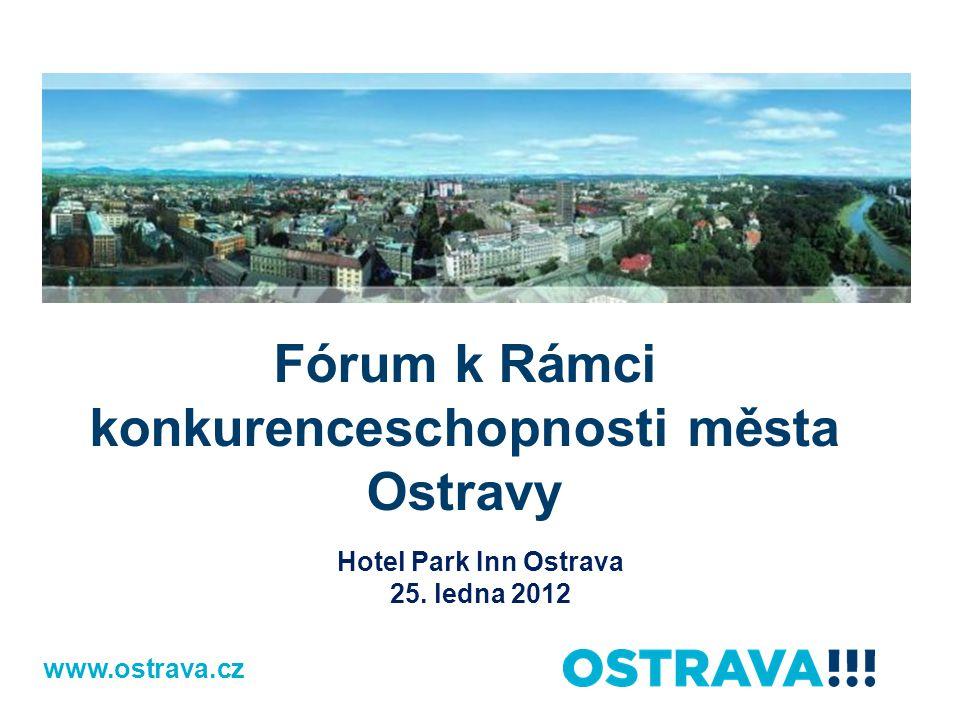 www.ostrava.cz Fórum k Rámci konkurenceschopnosti města Ostravy Hotel Park Inn Ostrava 25.