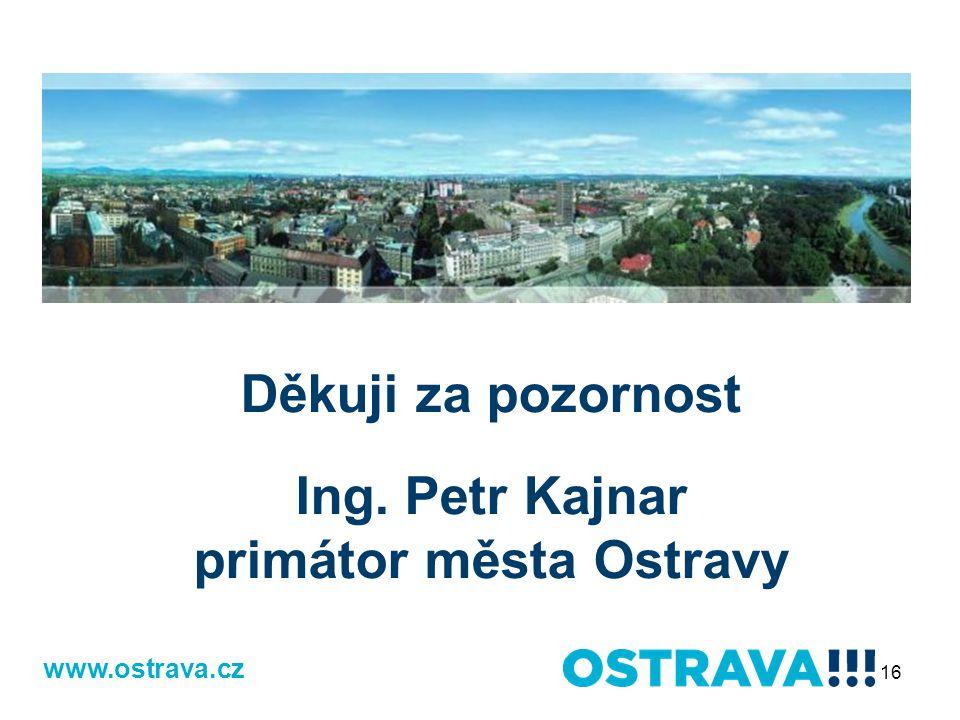 www.ostrava.cz Děkuji za pozornost Ing. Petr Kajnar primátor města Ostravy 16