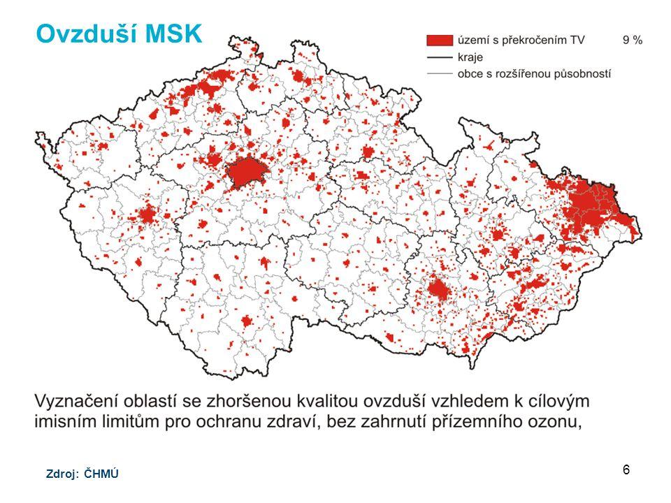 Ovzduší MSK Zdroj: ČHMÚ 6