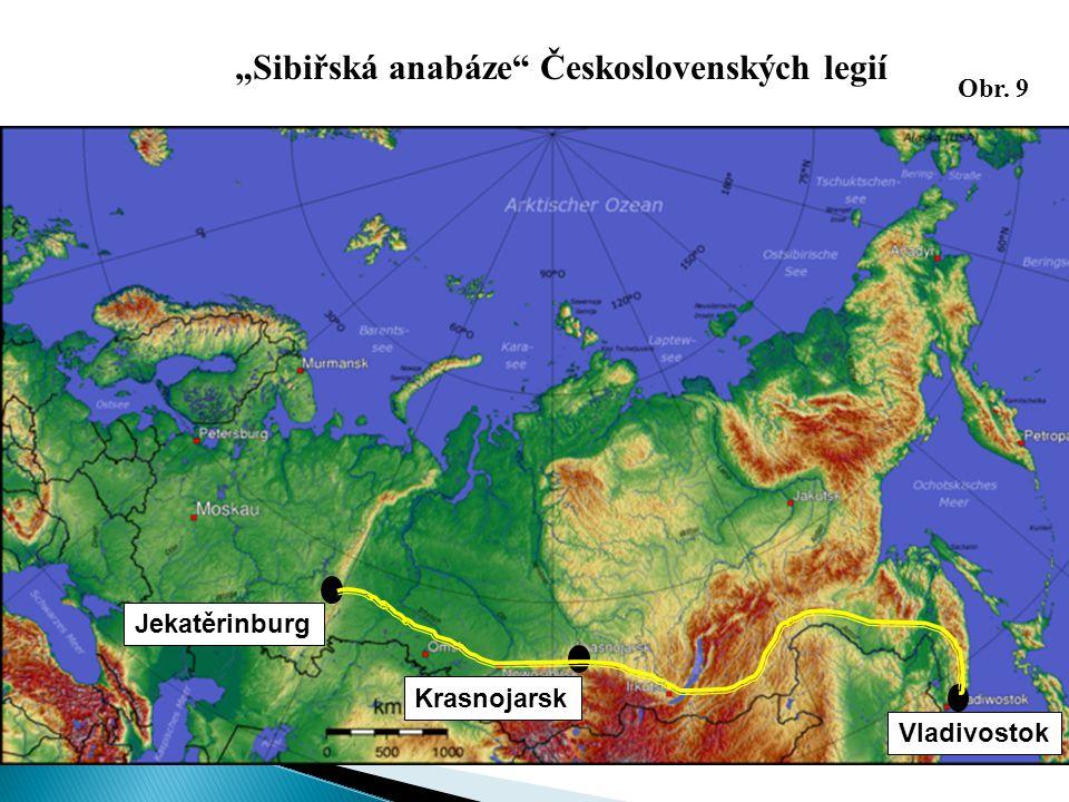 """Jekatěrinburg Krasnojarsk Vladivostok """"Sibiřská anabáze"""" Československých legií Obr. 9"""