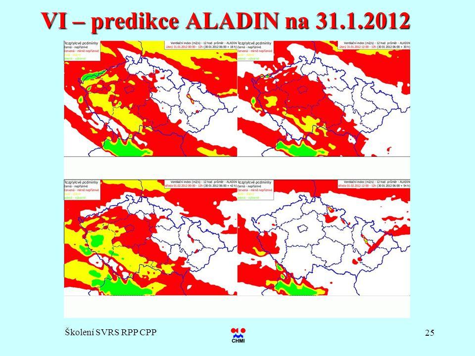 Školení SVRS RPP CPP 25 VI – predikce ALADIN na 31.1.2012