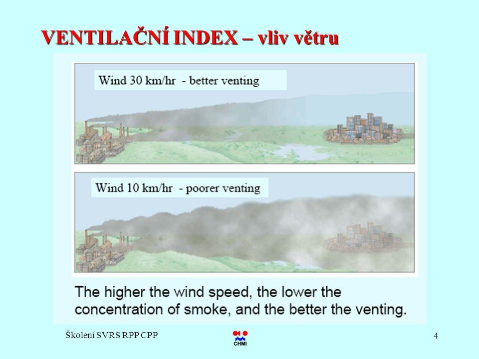 Školení SVRS RPP CPP 4 VENTILAČNÍ INDEX – vliv větru