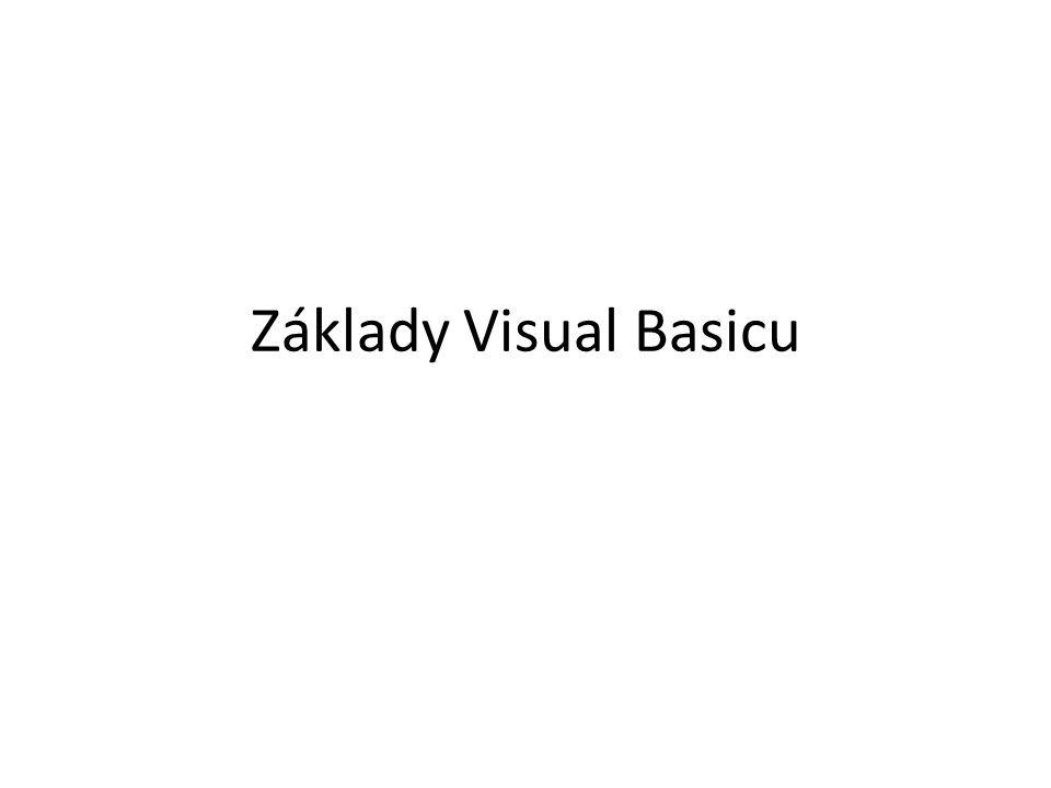 Základy Visual Basicu