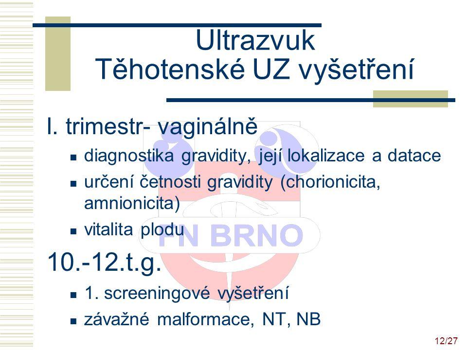 13/27 Ultrazvuk Těhotenské UZ vyšetření II.trimestr- abdominálně  1.