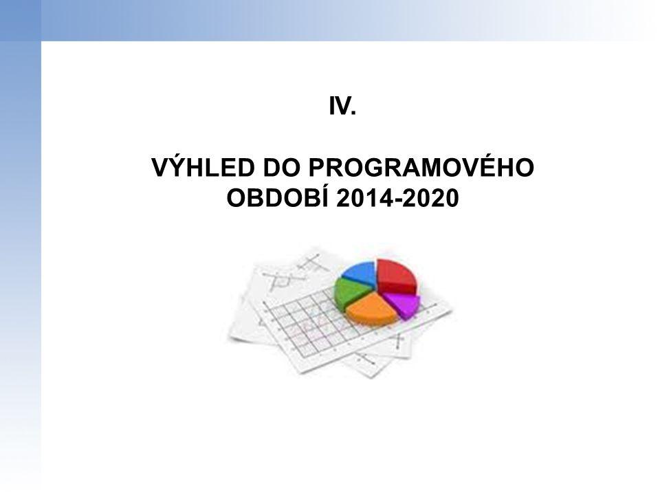 IV. VÝHLED DO PROGRAMOVÉHO OBDOBÍ 2014-2020