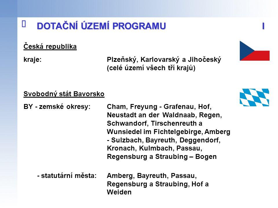 Česká republika kraje:Plzeňský, Karlovarský a Jihočeský (celé území všech tří krajů) Svobodný stát Bavorsko BY - zemské okresy: Cham, Freyung - Grafen
