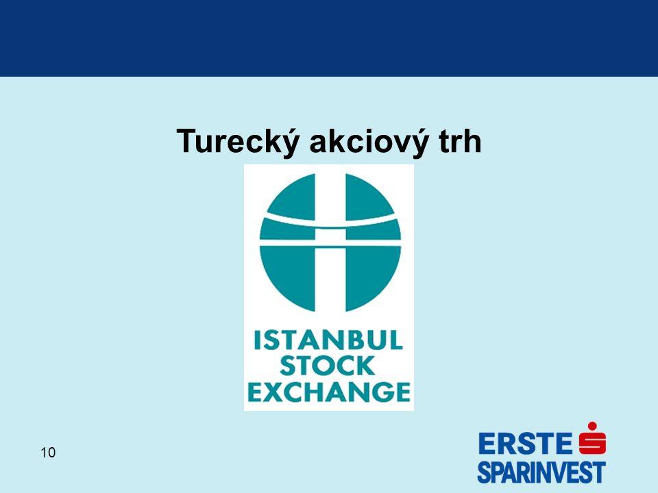 10 Turecký akciový trh