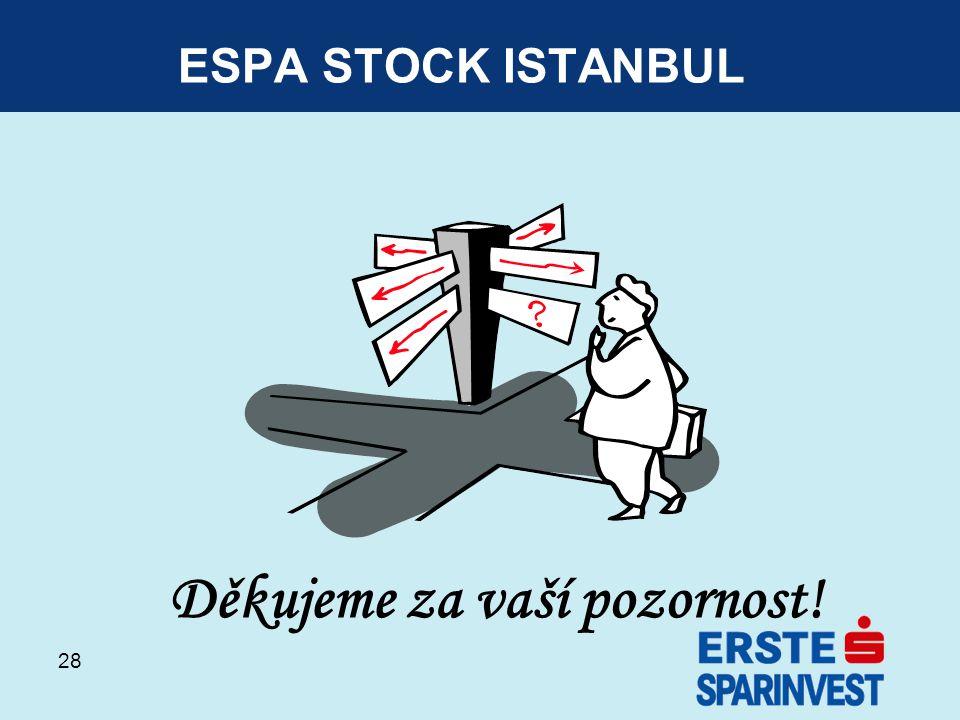 28 ESPA STOCK ISTANBUL Děkujeme za vaší pozornost!