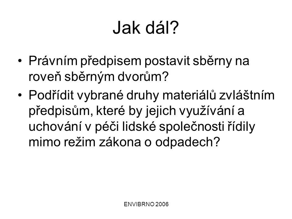 ENVIBRNO 2006 Druhy živností obor č.