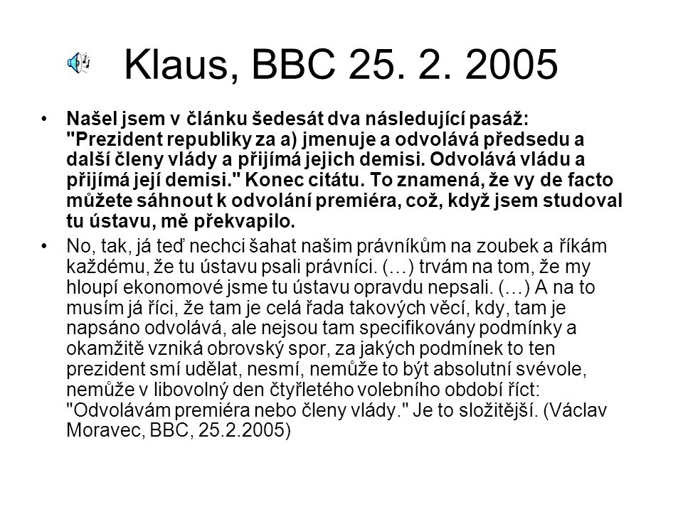 Klaus, BBC 25. 2.