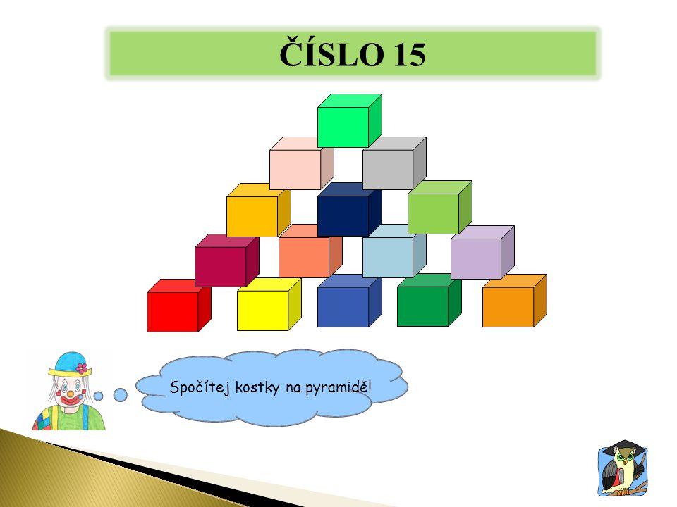 ČÍSLO 15 Spočítej kostky na pyramidě!