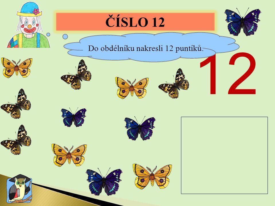 ČÍSLO 12 12 Do obdélníku nakresli 12 puntíků.