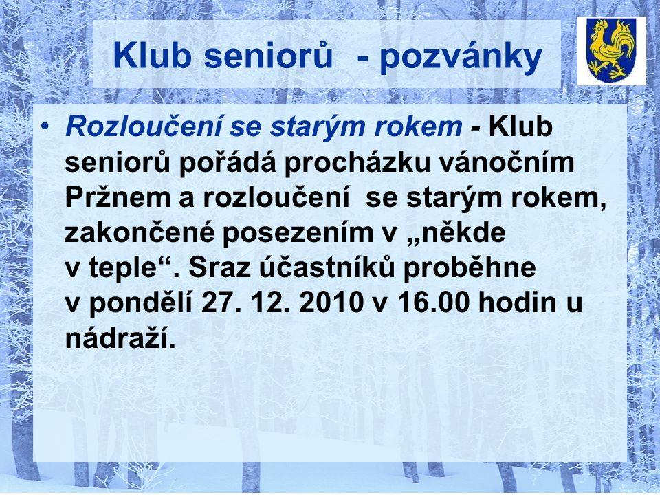 Vánoční koncert se uskuteční v neděli 26.prosince 2010 v 17:00 hod.
