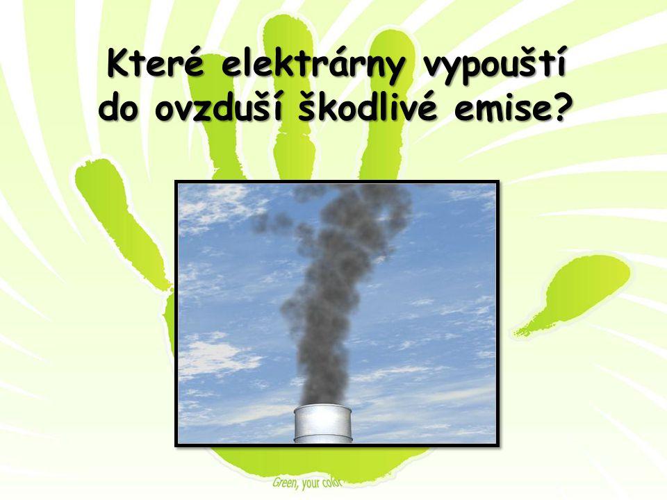Které elektrárny vypouští do ovzduší škodlivé emise?