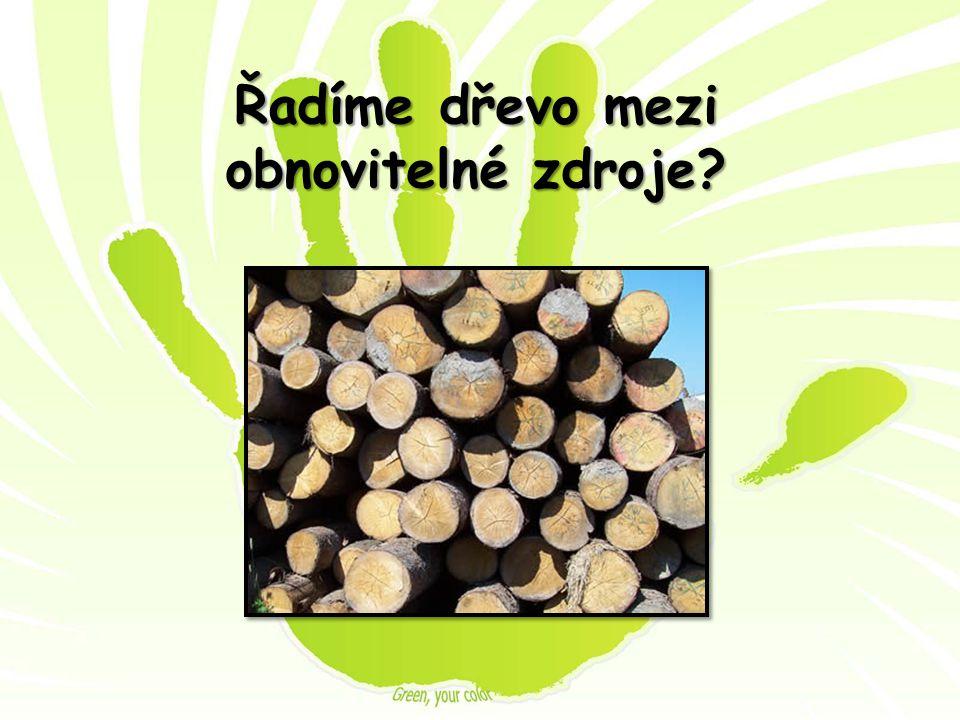 Řadíme dřevo mezi obnovitelné zdroje?