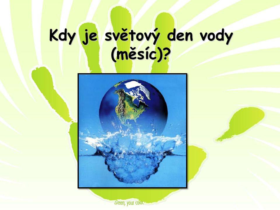 Kdy je světový den vody (měsíc)?