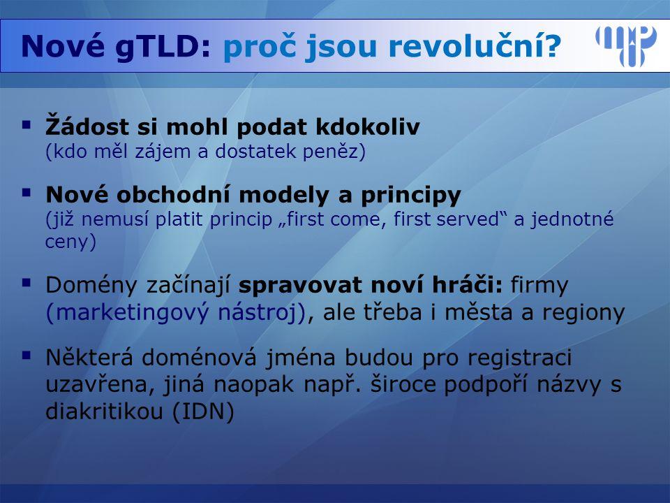 Nové gTLD: proč jsou revoluční.