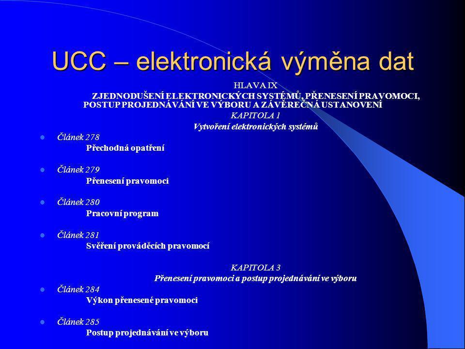 HLAVA IX ZJEDNODUŠENÍ ELEKTRONICKÝCH SYSTÉMŮ, PŘENESENÍ PRAVOMOCI, POSTUP PROJEDNÁVÁNÍ VE VÝBORU A ZÁVĚREČNÁ USTANOVENÍ KAPITOLA 1 Vytvoření elektroni