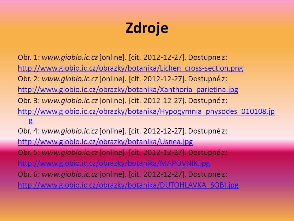 Zdroje Obr. 1: www.giobio.ic.cz [online]. [cit. 2012-12-27].
