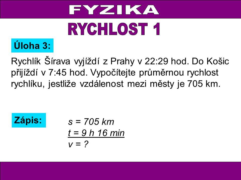 Rychlík Šírava vyjíždí z Prahy v 22:29 hod. Do Košic přijíždí v 7:45 hod.